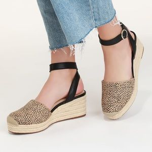 Sole Society Channing Dotted Calf Hair Espadrille